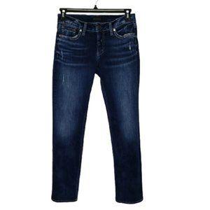 SILVER JEANS blue suki straight jeans size 30